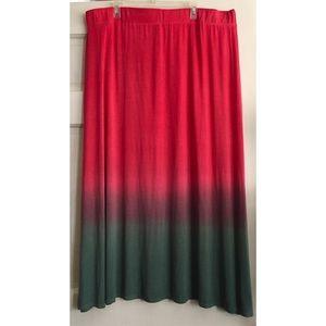 Dip Dyed Maxi Skirt